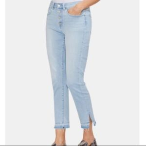 VINCE CAMUTO High Waist Button Fly Skinny Jeans 12